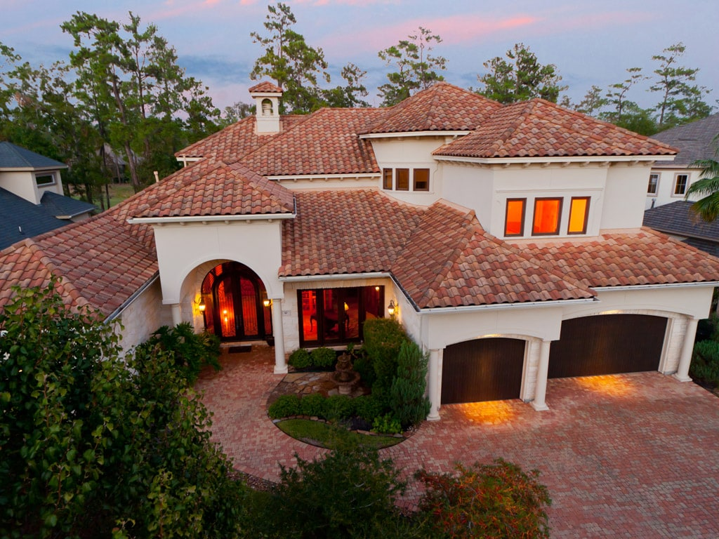 Tile roof will have this style house curb appeal for Spanish style roof tiles